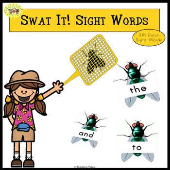 Sight Words Swatting Flies Games for Dolch Sight Words