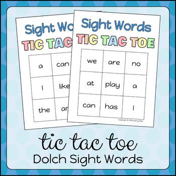 Sight Words TIC TAC TOE