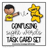 Sight Words Task Card Set (Were/Where)