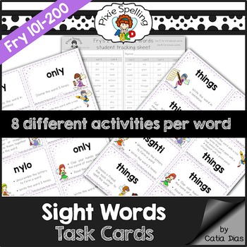 Sight Words Task Cards - Fry 101 to 200