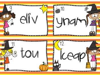 Sight Words Task Cards {Halloween Themed)