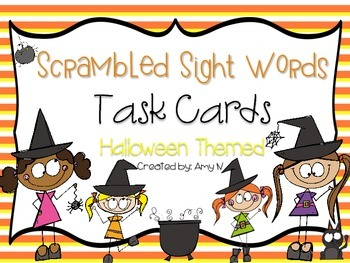 Sight Words Task Cards {Halloween Themed)