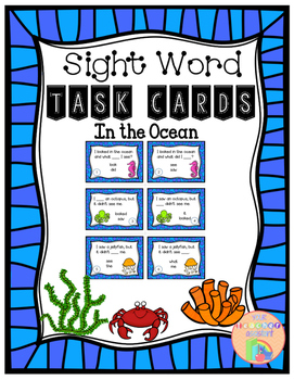 Sight-Words-Task-Cards {Ocean Theme}