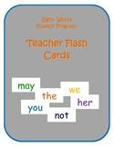 Sight Words Teacher Cards