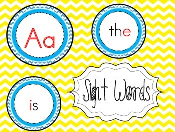Sight Words Teal Chevron