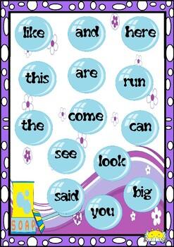Sight Words Teddy's Soap Bubbles