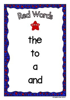 Sight Words - The First 40 Most Frequently Used Words - Australian Version