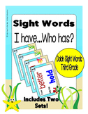 Sight Words Third Grade Level Dolch Word List - I Have... Who Has? Game