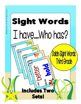 Sight Words Third Grade Level Dolch Word List - I Have...