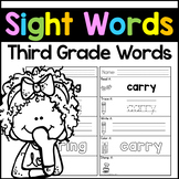 Sight Words Third Grade Sight Words Worksheets