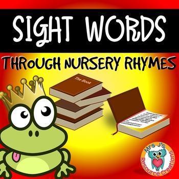 Nursery Rhymes {Sight Words Activity Pack}