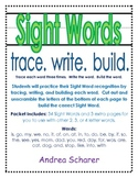 Sight Words! Trace, Write, Build