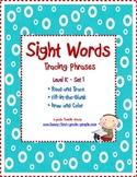 Kindergarten Sight Words - Tracing Phrases - Set 1