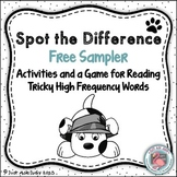 Sight Words Tricky Spot the Difference Free Sample