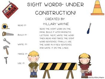 Sight Words-Under Construction