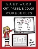 Sight Words Cut, Paste, & Color Set 1