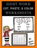 Sight Words Cut, Paste, & Color Set 2