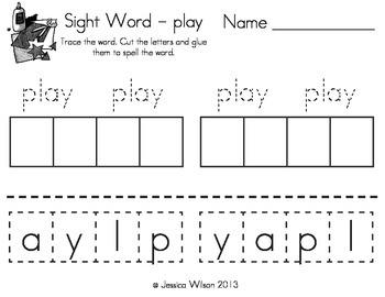 Sight Words Cut, Paste, & Color Set 7