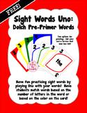 Sight Words Uno - Pre-Primer Dolch Words FREEBIE