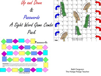 Sight Words Ups Downs and Passwords Combo Pack