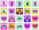 Sight Words Valentine Bingo