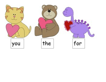 Sight Words Valentine's Day Match