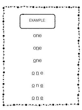 Sight Words Visual and Kinesthetic 1st 50 Fill in the Blank