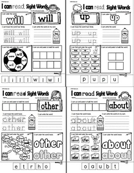 Sight Words Volume 2 - Fry's 2nd 50 words (Practice Sheets)