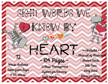 Sight Words We Know by HEART