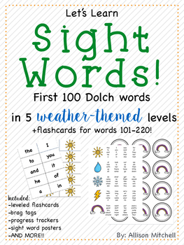 Let's Learn Sight Words! (Dolch Word List) - Weather Theme