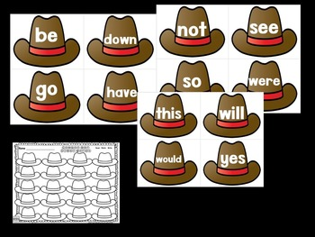 Cowboy Sight Words