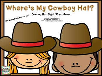 Sight Words!  Where's My Cowboy Hat?  Sight Word Game