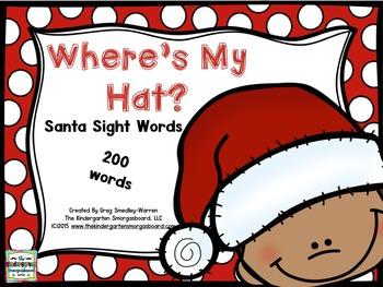 Sight Words!  Where's My Santa Hat?  Santa Sight Word Game!