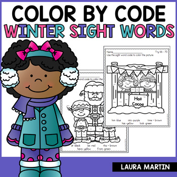Color by Sight Word-Winter