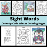 Sight Words Winter Coloring Pages: Penguin, Snowman, Reind
