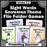 Sight Word Practice, File Folder Games Special Education Independent Work