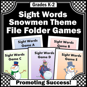 Sight Words Practice, File Folder Games for Special Education ESL Speech Therapy