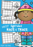 Winter Race and Trace Worksheets