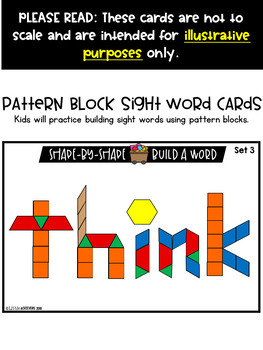 Sight Words With Pattern Blocks   Pattern Block Templates (First Grade Words)