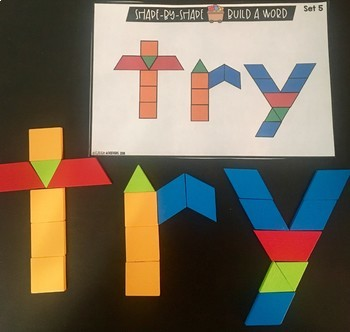Sight Words With Pattern Blocks | Pattern Block Templates (Second Grade Words)