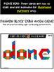 Sight Words With Pattern Blocks | Pattern Block Templates (Third Grade Words)