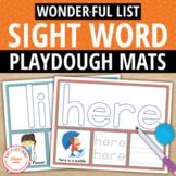 Kindergarten Sight Word Play Dough and Activity Mats - List W