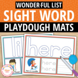Kindergarten Sight Word Play Dough and Activity Mats - List W