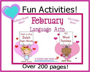 Sight Words & Word Family File Folder Games, Bulletin Boar