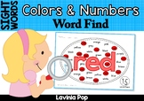Sight Words Word Find (Colors & Numbers)