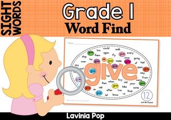 Sight Words Word Find (Grade 1)