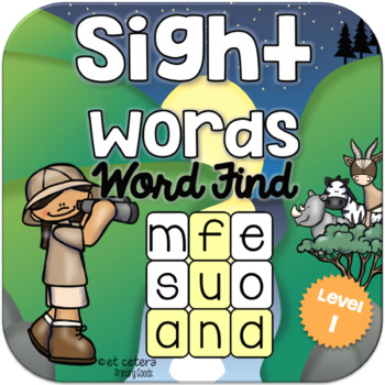 Sight Words Word Find Level 1 ~ PowerPoint & Printables