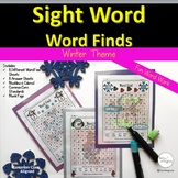Sight Words Word Find January Winter Theme