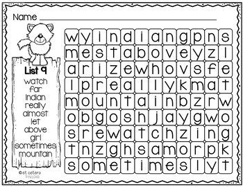 Sight Words Word Find Level 3 ~ PowerPoint & Printables