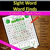 Sight Words Word Find St. Patrick's Day March Theme